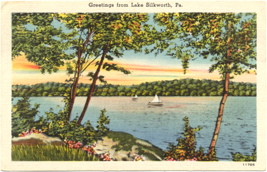 post card - Lake Silkworth 1950